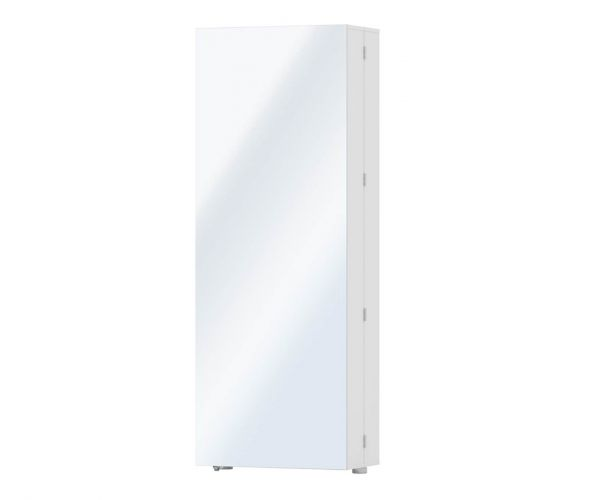 FTG Shoes White 1 Mirror Door Shoe Cabinet