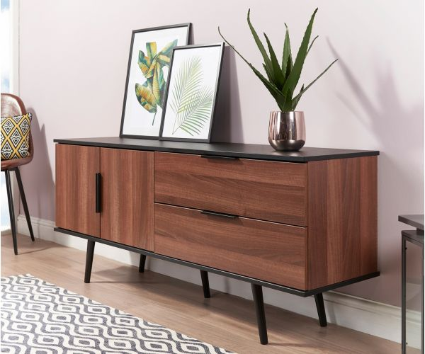 Welcome Furniture Hong Kong Noche Walnut and Black Sideboard Unit