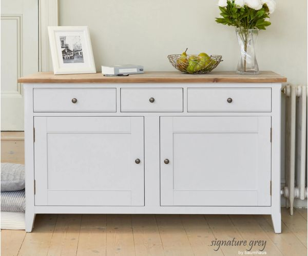 Baumhaus Signature Grey Large Sideboard