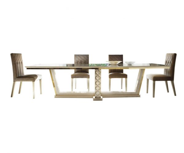 Arredoclassic Sipario Italian Rectangular Fix Top Dining Table