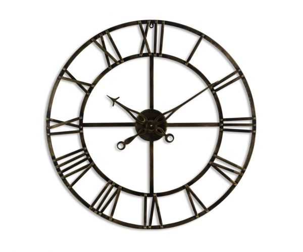 Antique Brass Skeleton Clock