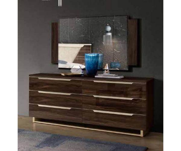 Camel Group Smart Walnut 6 Drawer Double Dresser