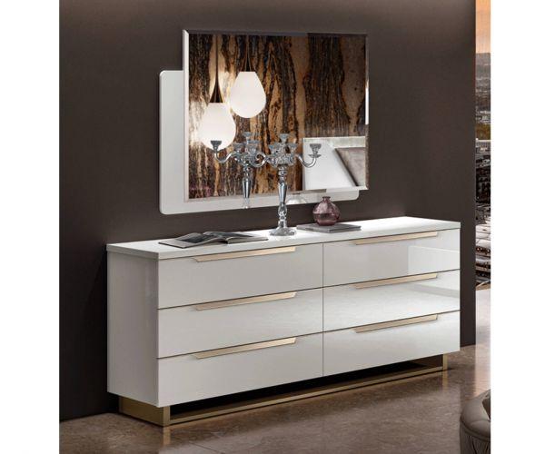 Camel Group Smart White 6 Drawer Double Dresser