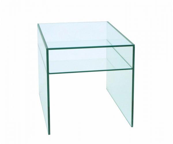 Greenapple Furniture Glass Square lamp Table