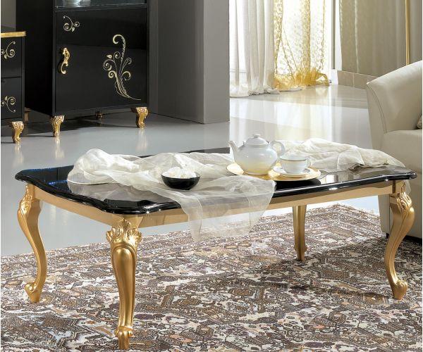 Ben Company Sofia Black and Gold Italian Coffee Table