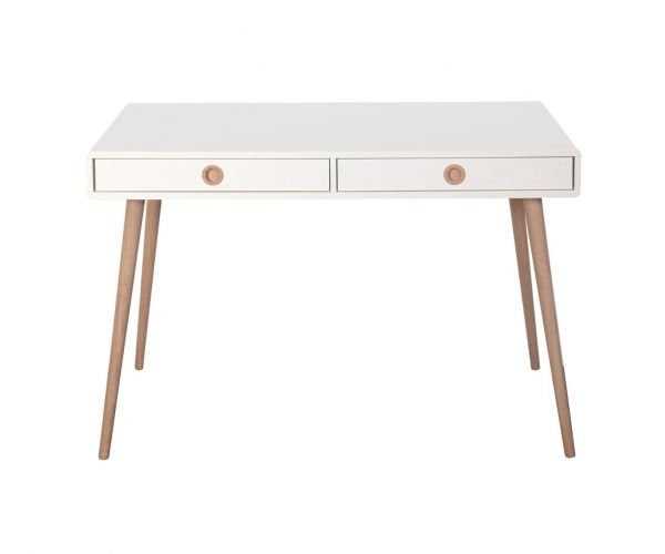 Steens Soft Line White Standard Desk