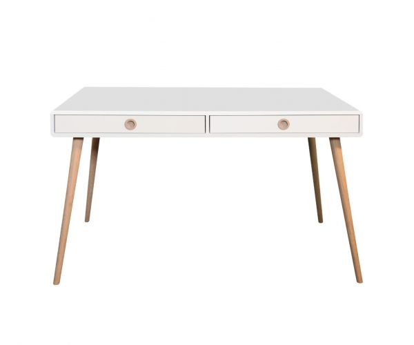 Steens Soft Line White Wide Desk
