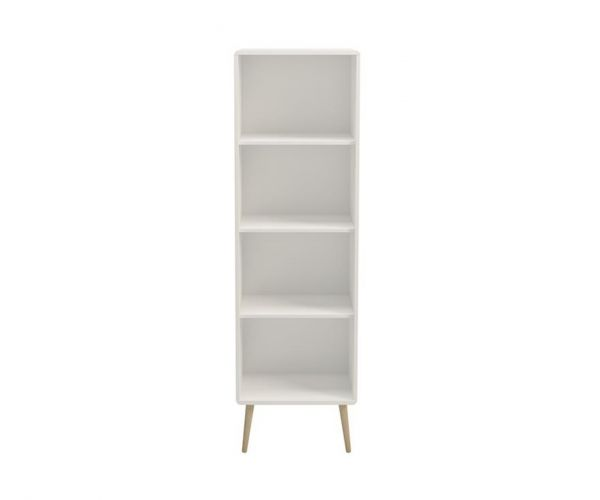 Steens Soft Line White Narrow Bookcase