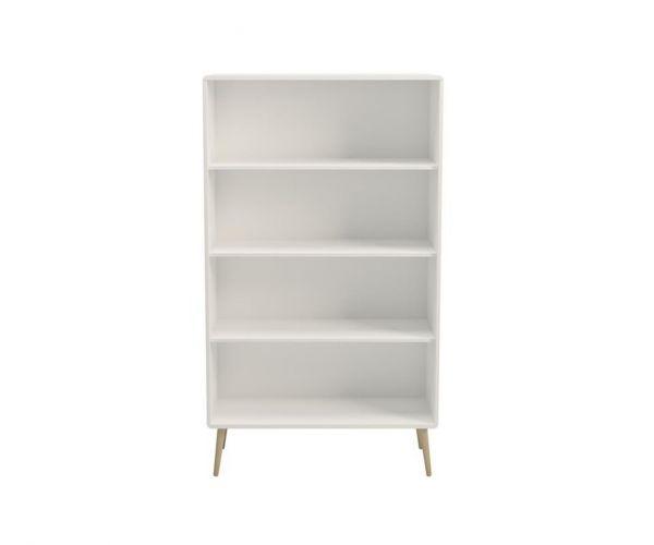 Steens Soft Line White Wide Bookcase