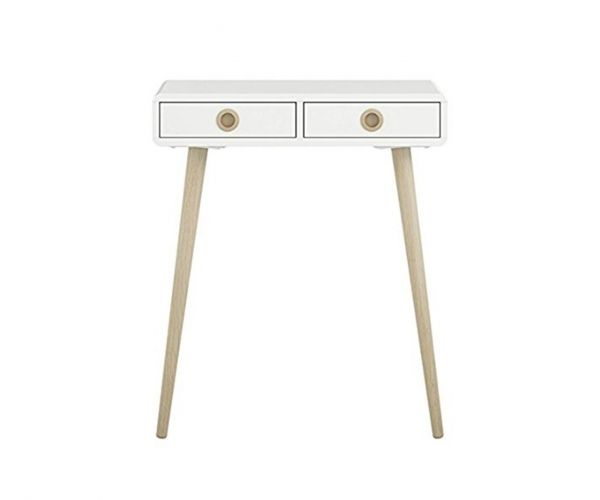 Steens Soft Line White Hall Table