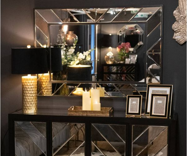 Soho Black Collection Large Mirror