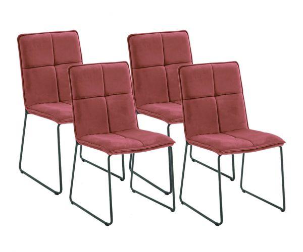 Vida Living Soren Blush Fabric Dining Chair Set of 4