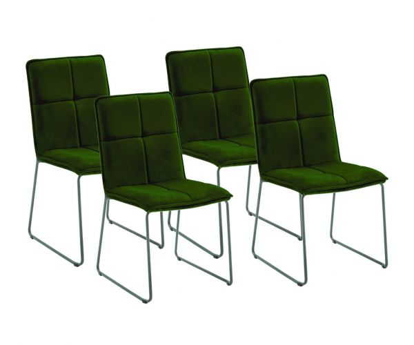 Vida Living Soren Green Fabric Dining Chair Set of 4