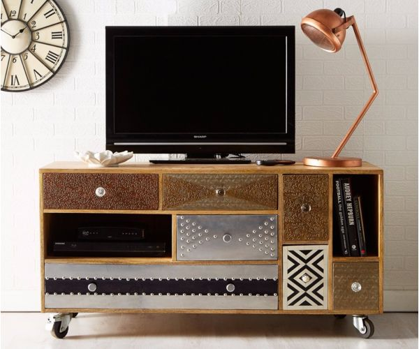 Indian Hub Sorio Metal TV Cabinet