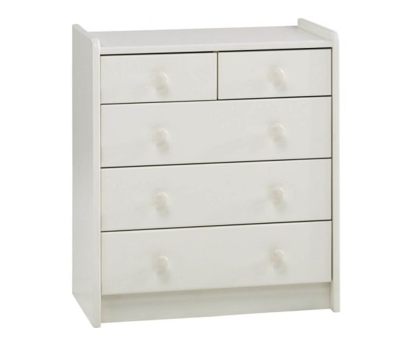 Steens Kids White 2+3 Drawer Chest