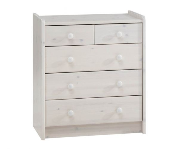 Steens Kids Whitewash 2+3 Drawer Chest