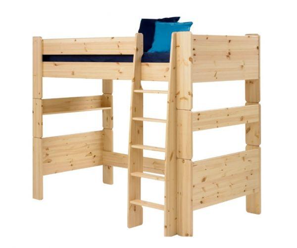 Steens Kids Solid Pine High Sleeper Bed Frame