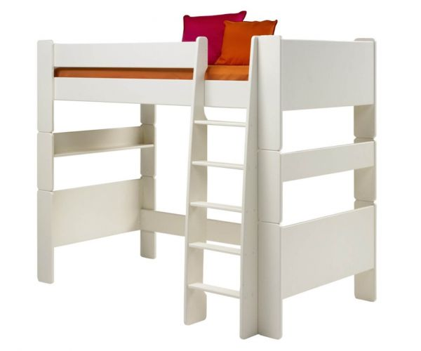 Steens Kids White High Sleeper Bed Frame
