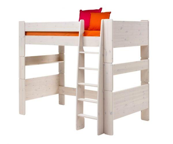 Steens Kids Whitewash High Sleeper Bed Frame