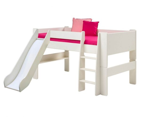 Steens Kids White Mid Sleeper Bed with Slide