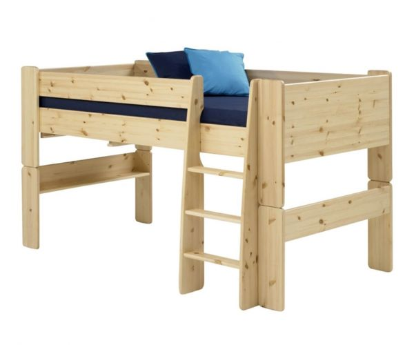 Steens Kids Solid Pine Mid Sleeper Bed Frame