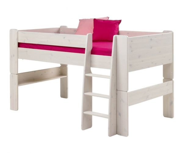 Steens Kids Whitewash Mid Sleeper Bed Frame