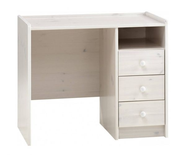 Steens Kids Whitewash 3 Drawer Desk