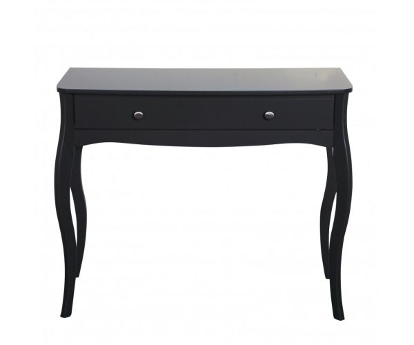 Steens Baroque Black 1 Drawer Dressing Table