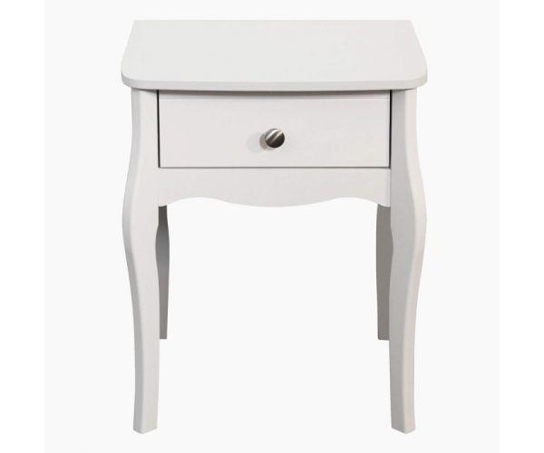 Steens Baroque White 1 Drawer Nightstand