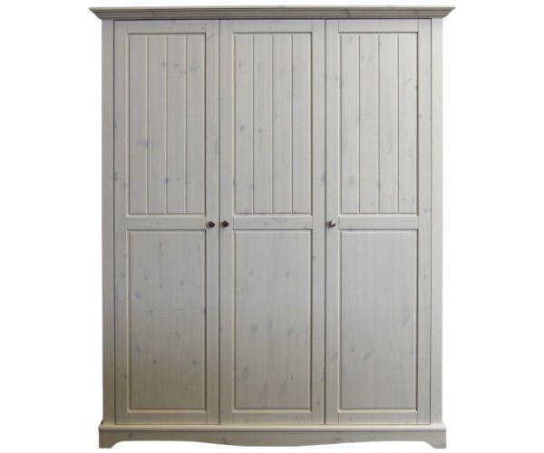 Steens Lotta Whitewash 3 Door Wardrobe