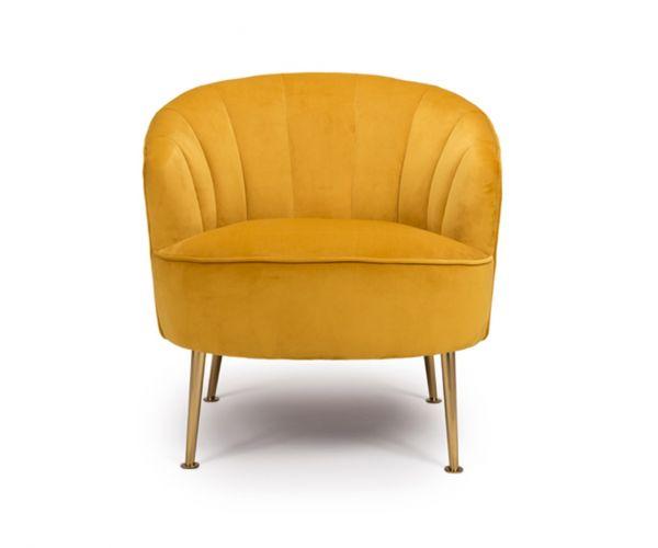 Furniture Line Stella Apricot Fabric Accent Chair