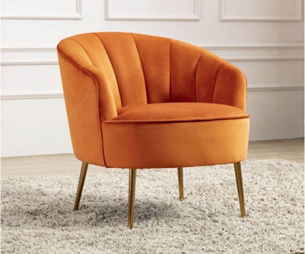 Furniture Line Stella Pumpkin Fabric Accent Chair