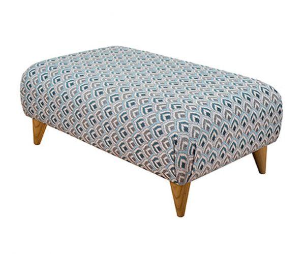 Buoyant Upholstery Style Fabric Large Footstool