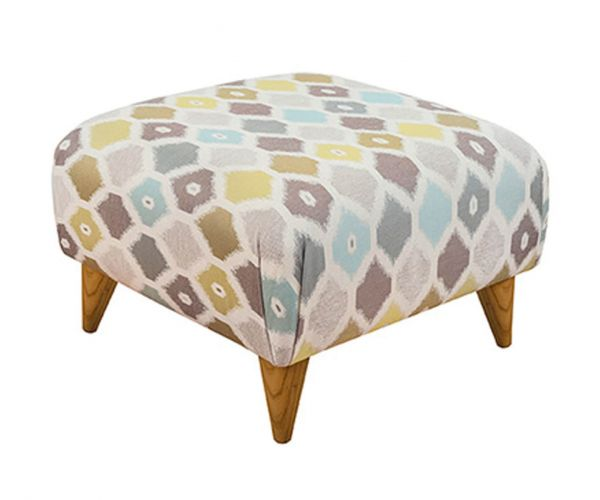 Buoyant Upholstery Style Fabric Small Footstool