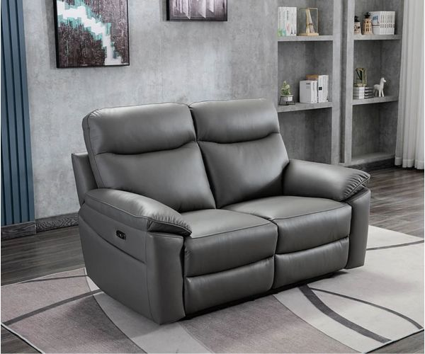 GFA Tahiti Mushroom Leather 2 Seater Sofa