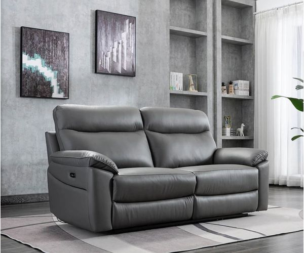 GFA Tahiti Mushroom Leather 3 Seater Sofa