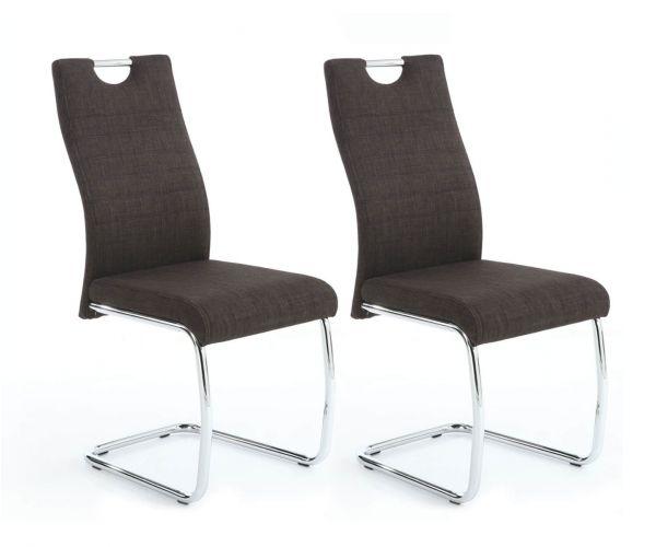 Shankar Talia Charcoal Fabric Dining Chair in Pair