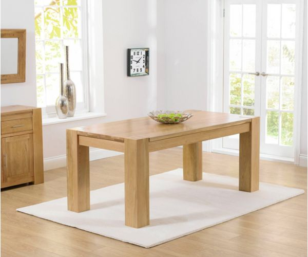 Mark Harris Tampa Solid Oak Medium Dining Table Only
