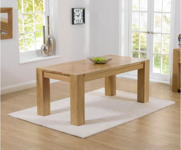 Mark Harris Tampa Solid Oak Large Dining Table Only