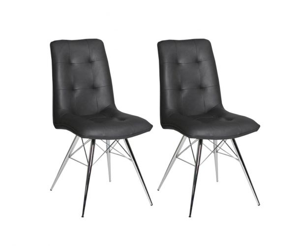 Furniture Line Tampa Grey Dining Chair in Pair