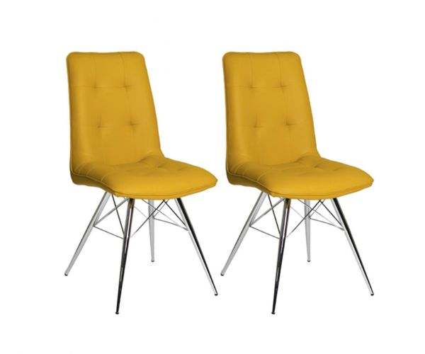 Furniture Line Tampa Ochre Dining Chair in Pair