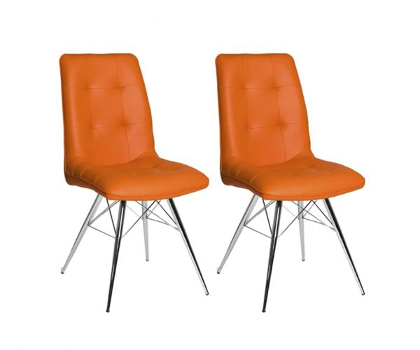 Furniture Line Tampa Orange Dining Chair in Pair