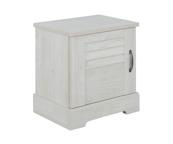 Gami Thelma Whitewashed Chestnut 1 Door Bedside Table