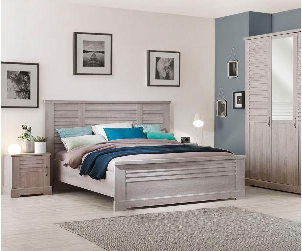 Gami Thelma Ceruse Oak Bed Frame