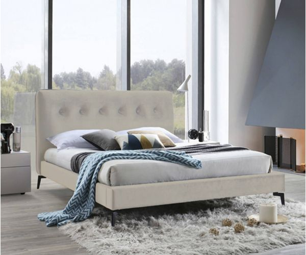 Furniture Line Tia Champagne Fabric Bed Frame