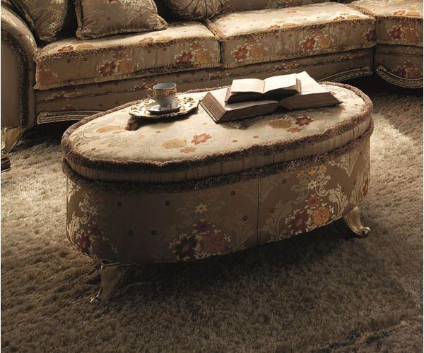 Arredoclassic Tiziano Italian Round Sofa Pouf