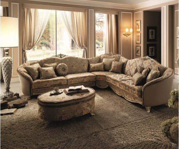 Arredoclassic Tiziano Italian Corner Sofa Set