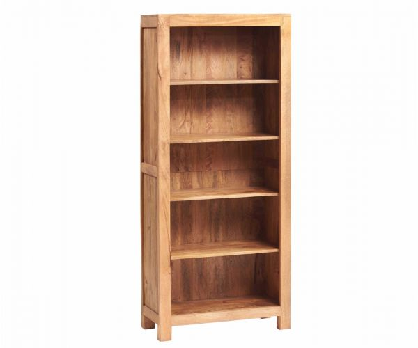 Indian Hub Toko Light Mango Large Open Bookcase