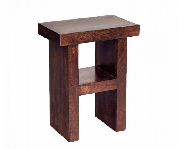 Indian Hub Toko Dark Mango H Shape Table