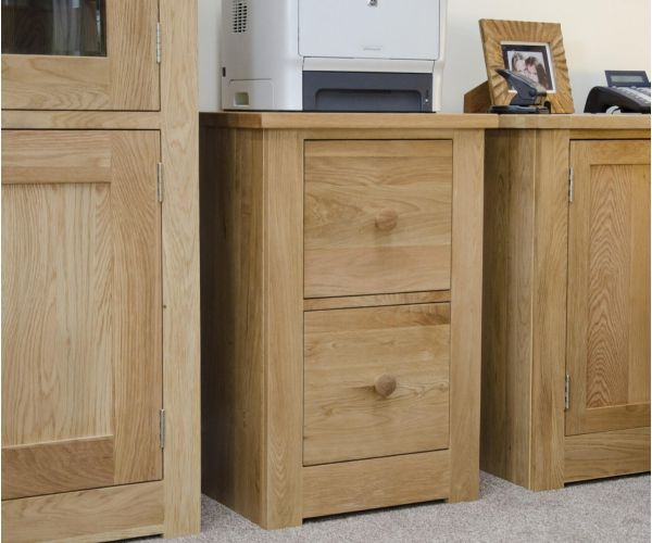 Homestyle GB Torino Oak 2 Drawer Filing Cabinet